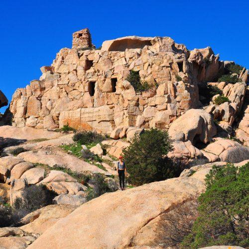 Hidden fortress Caprera Sardinia