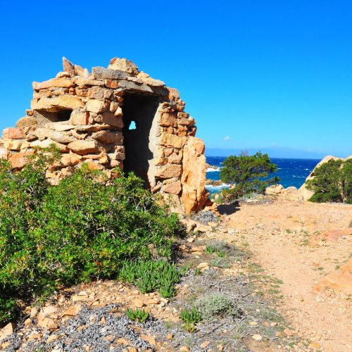 Hidden Military Watch Tower Caprera Island Sardinia