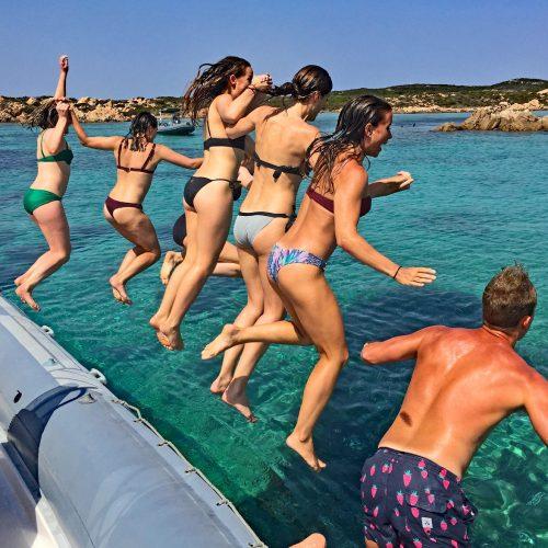 Sardinia Island Boat Tours Jumping