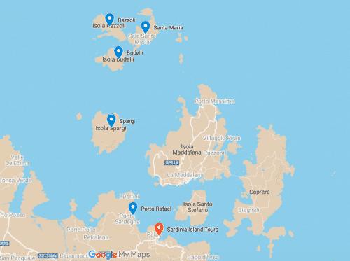 La Maddalena Archipelago Islands Map